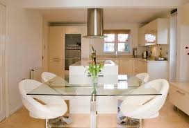 Love The Glass Top And The Extension Off The Island Dont Like - Kitchen diner tables