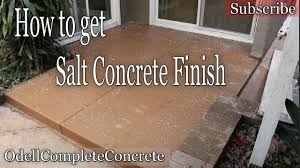 staining old concrete patio how to pour a concrete patio rock salt finish diy youtube