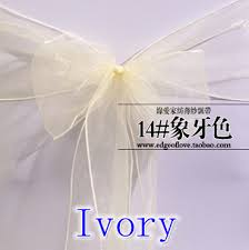 wholesale chair sashes ivory colour chair sashes organza sash wedding party