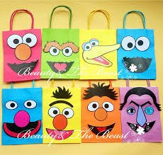 sesame decorations sesame favor bags gift bags birthday party decorations kids