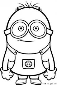 printable despicable minions printable coloring pages