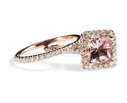 Rose Gold Wedding Ring Sets by Com 1 87 Cttw 18k Rose Gold Diamond Morganite Engagement Ring