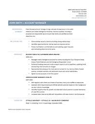 Sample Resume Monster Account Manager Resume Resume For Your Job Application