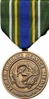 korean service ribbon korea defense service medal kd