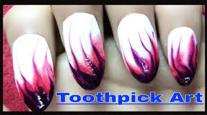 how to do beautiful nails designs using toothpick at home youtube
