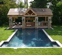 small pool house ideas swimming pool pool deck design ideas with small fountain