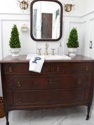 Vanity For Bathroom Turn A Vintage Dresser Into A Bathroom Vanity Vintage Dressers
