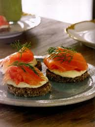 dining canapes recipes smoked salmon canapés with dijon crème fraiche recipe