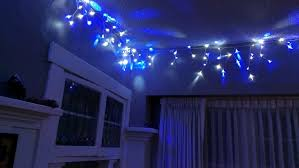 decorating extraordinary led icicle lights with blue color