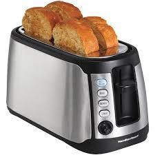 Toaster Ovens With Toaster Slots Hamilton Beach Long Slot Keep Warm Toaster Model 24810