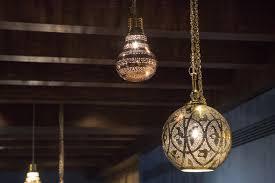 Coloured Chandelier by Oriental Pendant Lamp Brass Coloured Kafka Goes Pink Oranjade