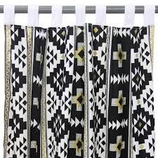 Nursery Curtain Panels by Curtain Panels Black Gold Aztec Caden Lane