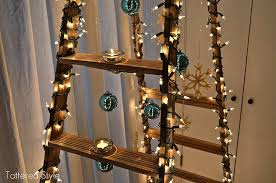ladder christmas tree tattered style ladder christmas tree