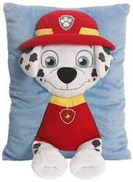 amazon com paw patrol marshall decorative pillow red black white