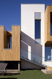 contemporary duplex house designed in passive house concept