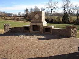 Retaining Wall Patio Freestanding Custom Retaining Wall Paver Patio And Fireplace In