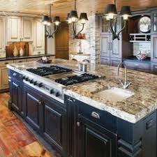 kitchen islands with stoves 27 rustic kitchen designs distressing painted wood kitchens and