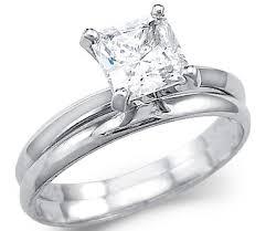 princess cut wedding set solid 14k white gold princess engagement wedding set