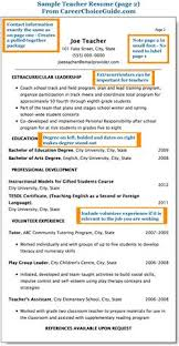 Resumes For Teachers Examples by Sample Teaching Resumes For Preschool Preschool Teacher Resume