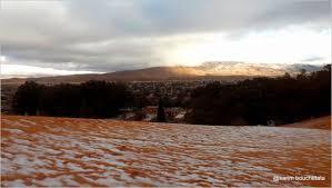 Snow In Sahara Stunning Photos Show Rare Snow In The Sahara Desert
