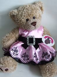 teddy clothes clothes pink buckle dress