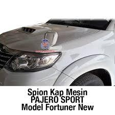 All New Pajero Sport List Kap Mobil Depan Molding Chrome spion kap mesin pajero sport original fortuner new spion dan