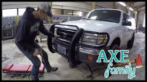 1999 tacoma light bar toyota tacoma grille guard install with axe family youtube