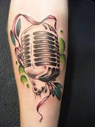 41 best microphone tattoo images on pinterest 1950s black and
