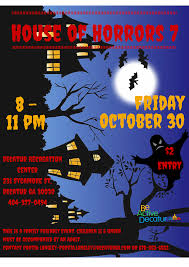 halloween haunted house at decatur recreation center be active