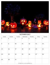 halloween calendar 2017