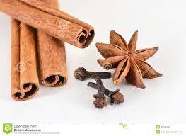 Cloves Cinnamon Sticks Star Anise And Cloves Spices Stock Photo