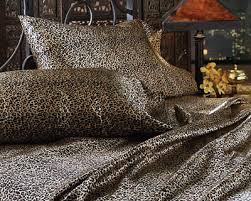 zebra and leopard print satin sheet sets animal print in black and