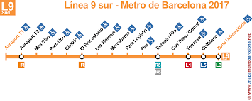 Metro Yellow Line Map by Maps Of The Underground Lines Barcelona 2017 Line By Line
