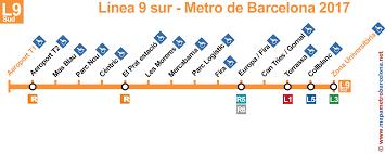 Orange Line Metro Map line 9 orange l9 barcelona metro updated 2017