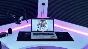 minimalist desk setup room tour youtube
