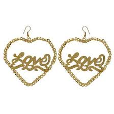 Name Plate Earrings Lulu Mimi Rakuten Global Market I Love Heart Plate Gold