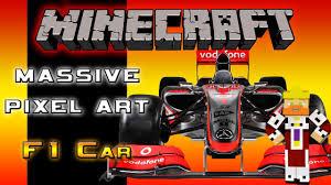 pixel art car massive pixel art build 4 f1 race car youtube