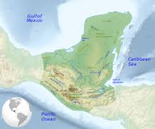mayan empire map civilization