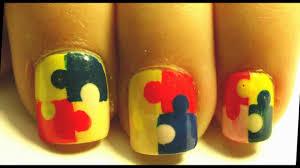 easy puzzle nail art tutorial youtube