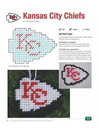 kansas city chiefs ornament magnet my plastic canvas