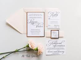 Foil Wedding Invitations Invitation Rose Gold Foil Wedding Invitations 2492933 Weddbook