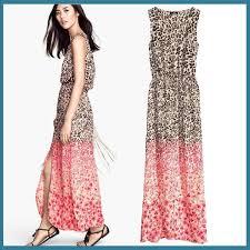 elegant women split leg dresses for party beach style chiffon maxi