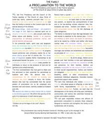 family proclamation lds women family proclamation value colored