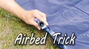 how to inflate an airbed without a pump youtube