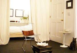 Dividing A Bedroom With Curtains Small Space Solution Use Curtains To Divide Small Spaces