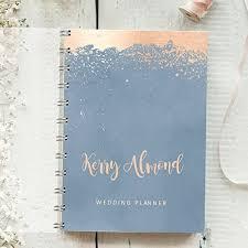 wedding organiser personalised wedding planner splatter 4 year diary to
