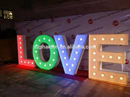large light up letters high quality indoor outdoor large light up marquee bulb love