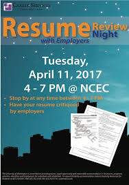 resume review services resume review with employers past events events career