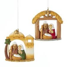 spun glass nativity ornaments 3 box set kurt s adler