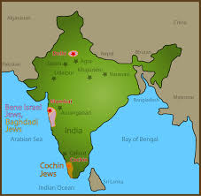 Bay Of Bengal Map 24 Map Of Jewish Sites Visited In India Global Travel